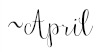 april signiture